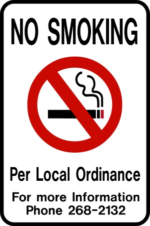 No Smoking 8-by-12 with Information