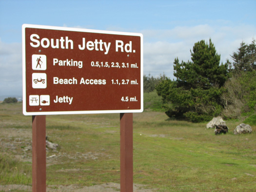 South Jetty Road Sign