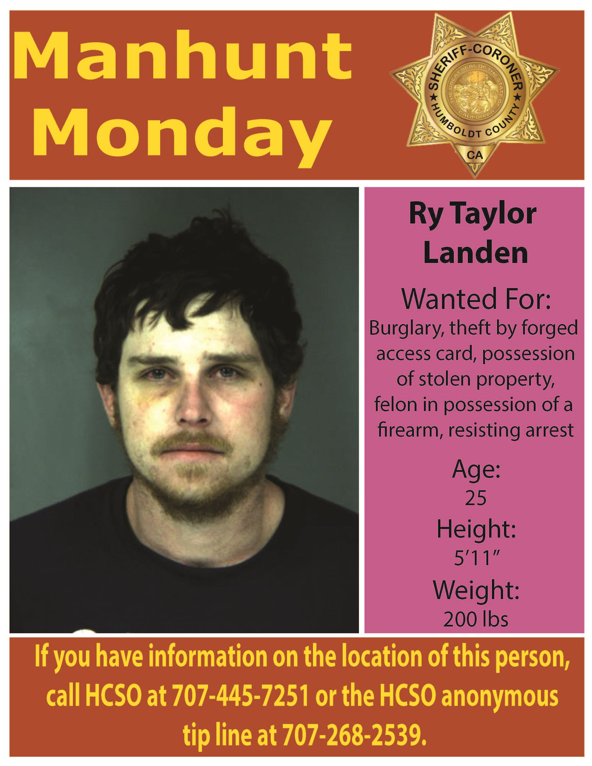 Manhunt Monday Ry Taylor Landen
