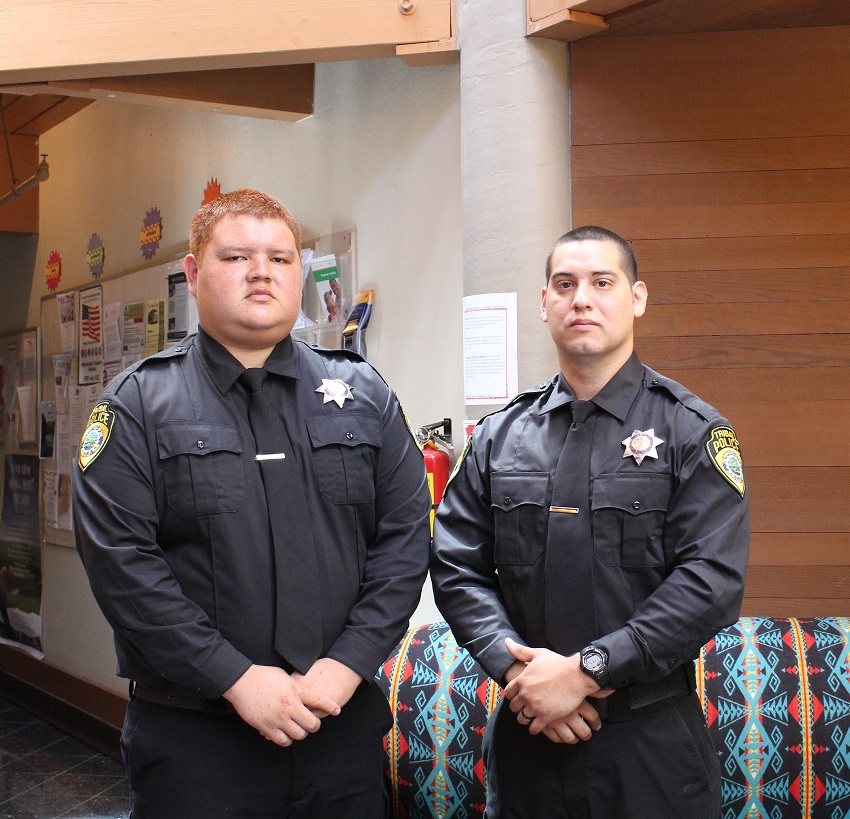 Hoopa Valley Tribal Police Officers Hostler and Yanez