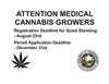 Registration and application deadlines for medical cannabis growers