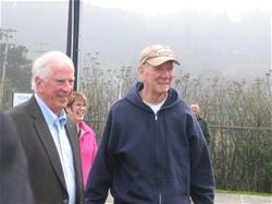 Supervisor Jimmy Smith, right, with Rep. Mike Thompson